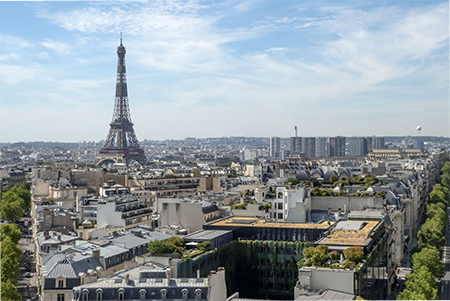 Eiffel Tower Viewed from the Arc de Triomphe