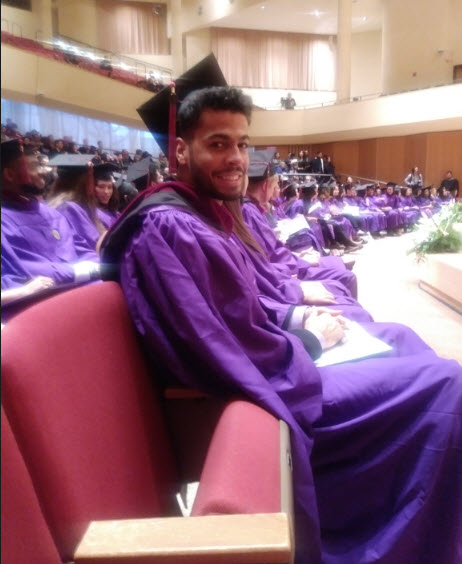 Anthony Fleet at Northwestern University commencement ceremony