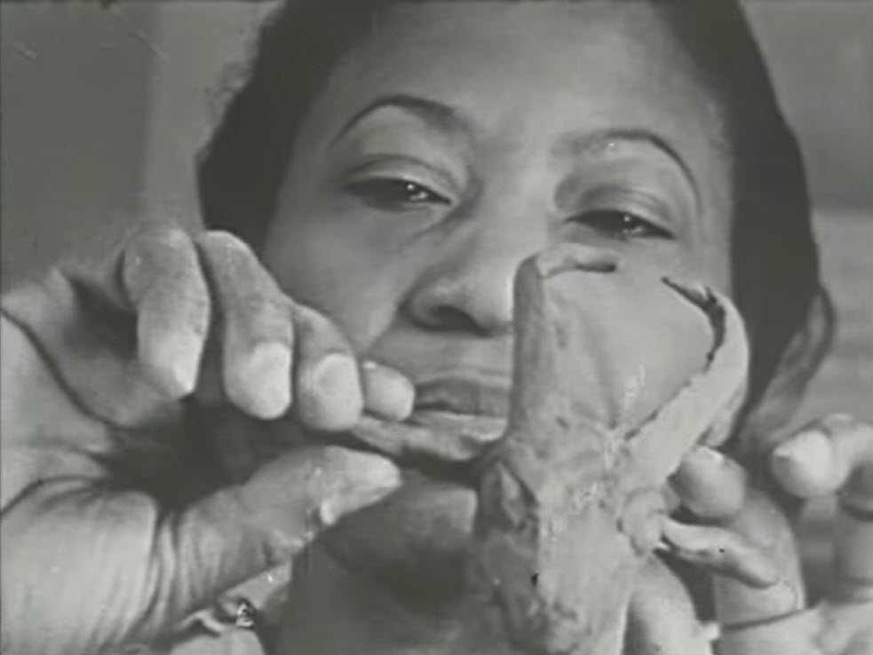 Screenshot from video entitled Augusta Savage, African-American Sculptor