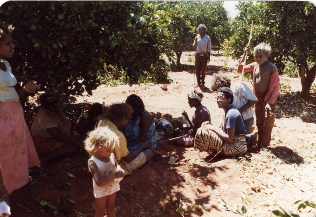 Cheryl Ann Bolden with an Aboriginal family