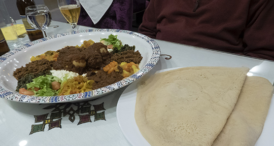 Beyayannetou and injera