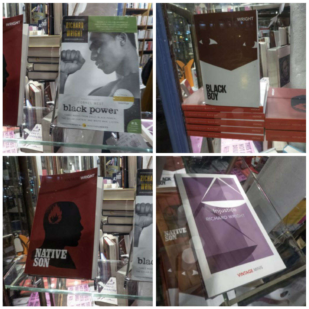 Book display collage