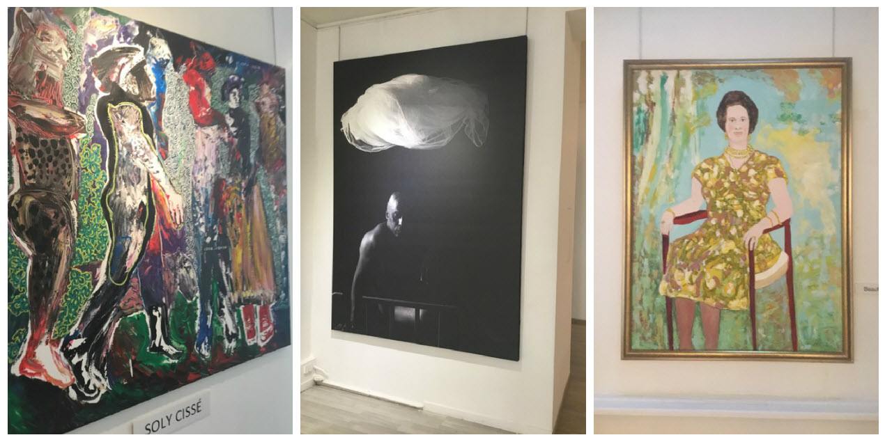 Works on display at Galerie Intemporel - Collage 1