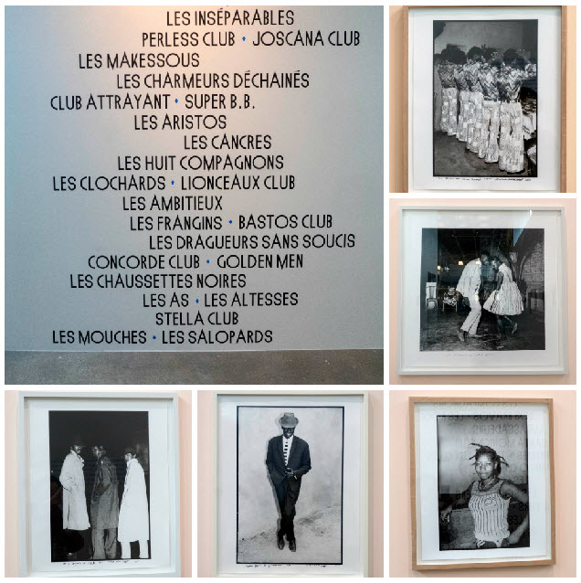 Collage of photos in second exhibition room