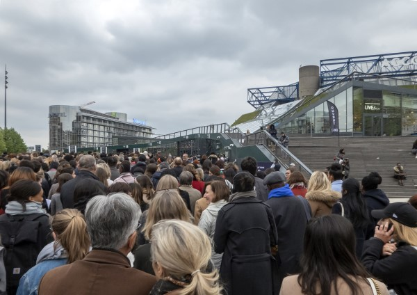 Crowd at AccorHotels Arena to see Michelle Obama