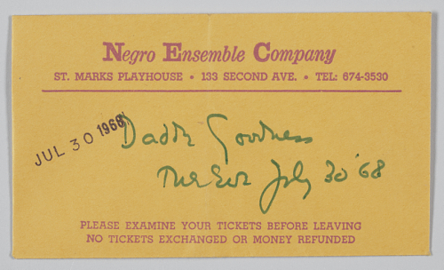 Ticket envelope for NEC performance of Daddy Goodness