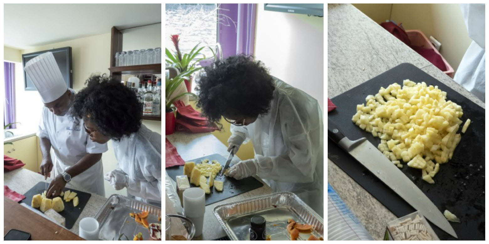 Collage_Dicing Pineapple