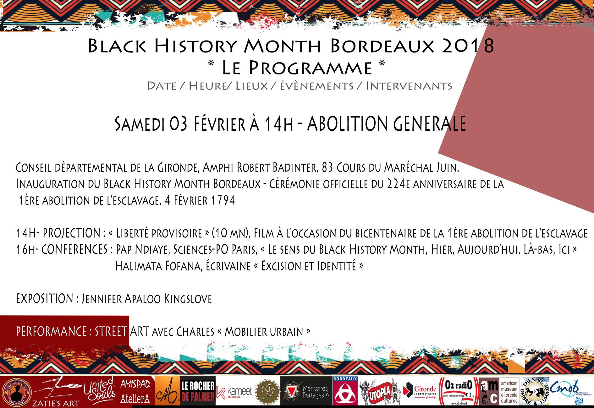 February 3 events - Black History Month Bordeaux