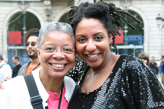 Monique and Toli at the concert