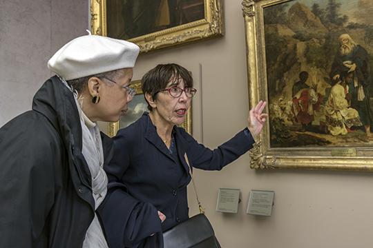 Monique and Françoise on the tour