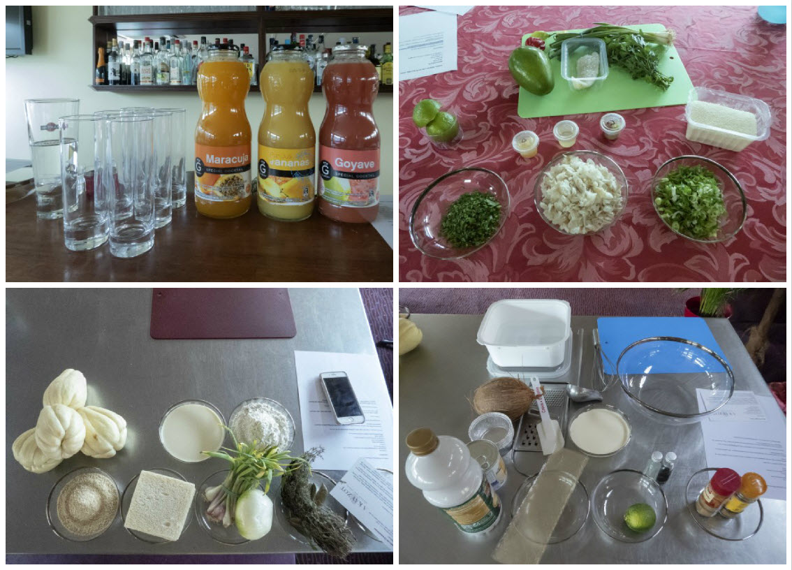 Preparation stations for culinary atelier