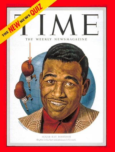 Time magazine cover_Sugar Ray Robinson