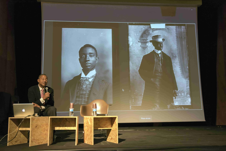 Glass negatives of photo portraits of Buck Colbert Franklin